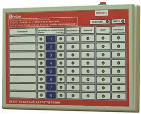Пульт пожарный диспетчерский ППД-01