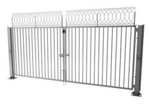 Ворота распашные двустворчатые «МЕТОЛ»